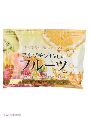 Japan Gals Курс натуральных масок для лица с фруктовыми экстрактами 30 шт. Цвет: прозрачный