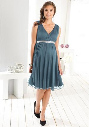Платье Neun Monate. Цвет: дымчато-синий