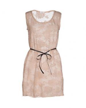 Короткое платье NÖE. Цвет: телесный