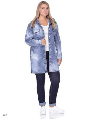 Джинсовая куртка Dreamers. Цвет: синий