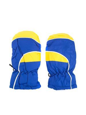 Варежки детские непромокаемые JD.ZARZIS. Цвет: желтый, синий