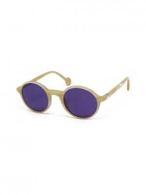 Солнцезащитные очки HALLY & SON. Цвет: бежевый