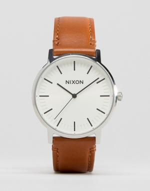 Nixon Светло-коричневые часы с кожаным ремешком Porter. Цвет: рыжий