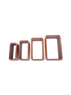 Комплект полок essentic. Цвет: оранжевый, белый
