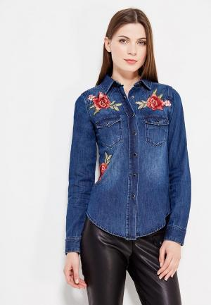 Рубашка джинсовая Koralline. Цвет: синий