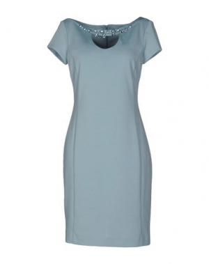 Короткое платье LUPATTELLI. Цвет: небесно-голубой