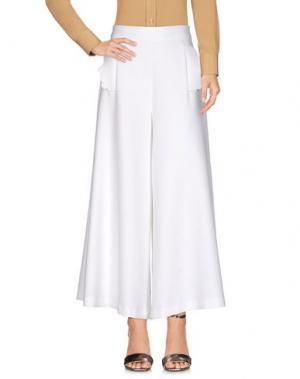 Повседневные брюки VIVETTA. Цвет: белый