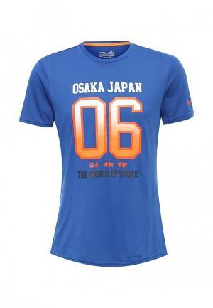 Футболка спортивная Mizuno. Цвет: синий