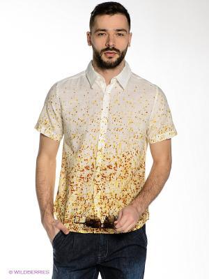 Рубашка Mavango. Цвет: молочный, желтый, оранжевый