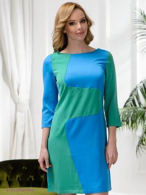 Платье Neohit. Цвет: зеленый, синий
