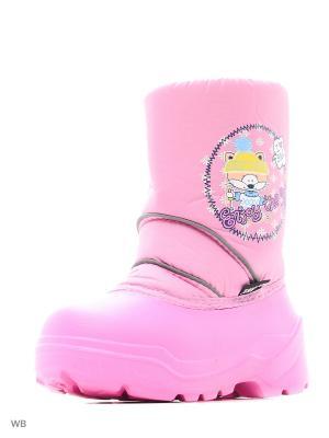 Сноубутсы Дюна. Цвет: бледно-розовый, желтый, розовый