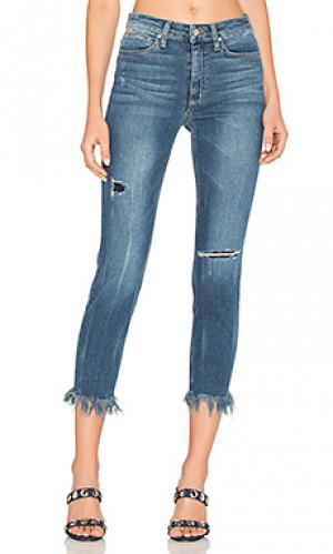 Укороченные джинсы с высокой талией и потрепанным низом the charlie Joes Jeans Joe's. Цвет: none