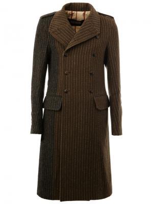 Пальто в стиле милитари Uma Wang. Цвет: зелёный