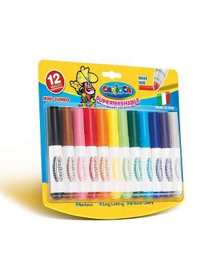 Набор мини-фломастеров MINI JUMBO  для детей, 12 цв Universal. Цвет: красный, темно-красный, бледно-розовый