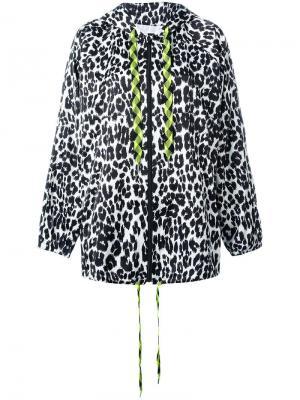 Леопардовая куртка с капюшоном Marc Jacobs. Цвет: чёрный
