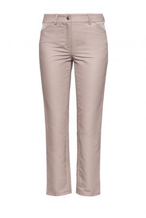 Укороченные брюки-дудочки из хлопка RM-10235114 Romana. Цвет: серый