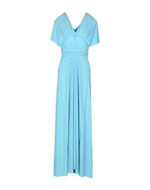 Длинное платье VON VONNI. Цвет: небесно-голубой