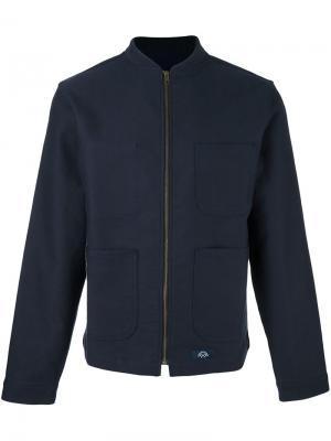 Куртка на молнии Bleu De Paname. Цвет: синий