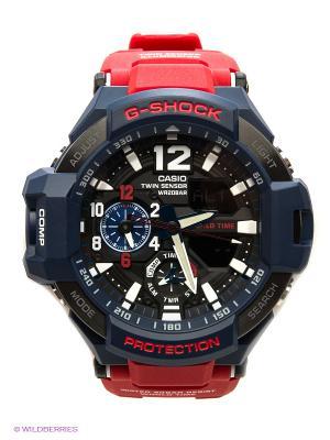 Часы G-SHOCK GA-1100-2A CASIO. Цвет: темно-синий, красный, черный