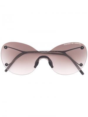 Круглые солнцезащитные очки Porsche Design. Цвет: серый