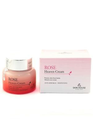 Крем для лица с экстрактом розы, 50 мл The Skin House. Цвет: бледно-розовый