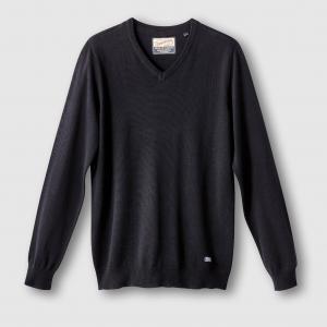 Пуловер с V-образным вырезом PETROL INDUSTRIES. Цвет: бордовый,каштановый меланж,черный