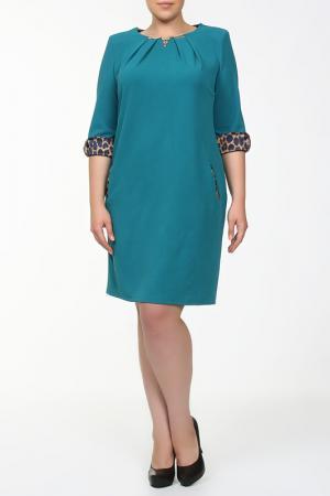 Платье QNEEL Q'NEEL. Цвет: изумрудный