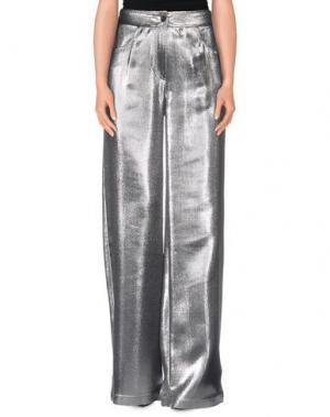 Повседневные брюки AMERICAN RETRO. Цвет: серебристый