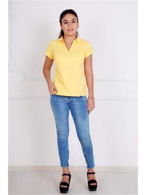Футболка-поло Lika Dress. Цвет: желтый
