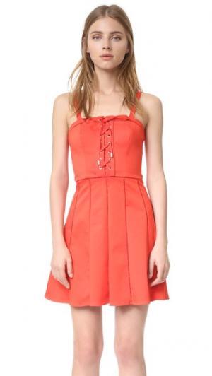 Платье Athena Parker. Цвет: оранжевый