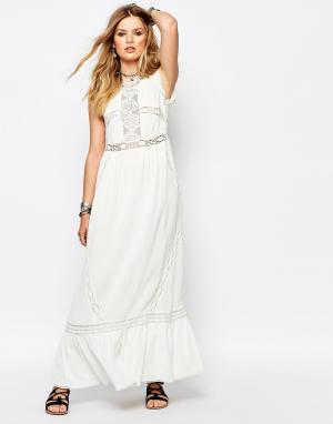 Gat Rimon Белое платье макси Careless. Цвет: белый
