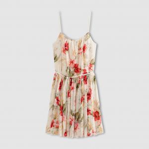 Платье с тонкими бретелями , LADIES WOVEN AND KNIT DRESS MOLLY BRACKEN. Цвет: экрю/рисунок