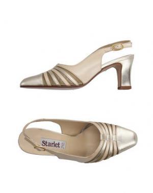 Туфли STARLET. Цвет: платиновый