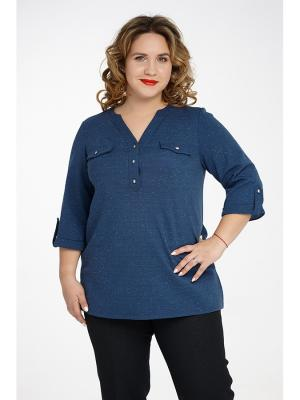 Блузка Царевна. Цвет: синий