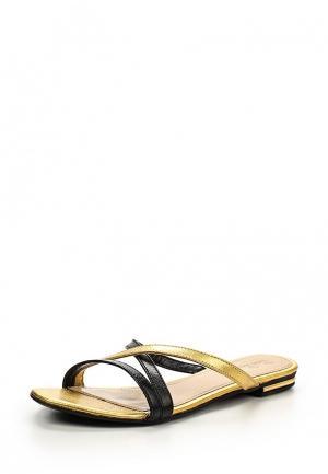 Шлепанцы Petit Pas. Цвет: золотой