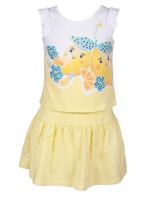 Комплект (джемпер+юбка) Bell bimbo. Цвет: светло-желтый