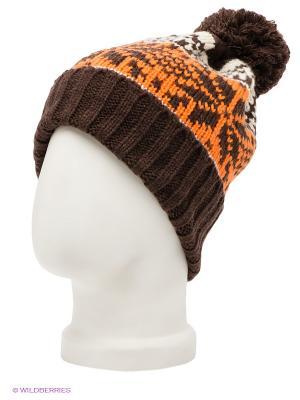 Шапка Maxval. Цвет: коричневый, молочный, оранжевый