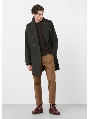 Пальто - PANONE MANGO MAN. Цвет: зеленый