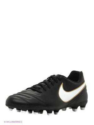 Бутсы TIEMPO RIO III FG Nike. Цвет: черный