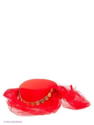 Маскарадная шляпа Magic Home. Цвет: красный