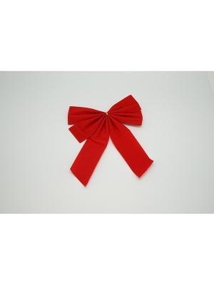 Бант бархат Красный 2 штуки 23см  (ДШВ 0,27Х0,17Х0,01 м.) Яркий Праздник. Цвет: красный