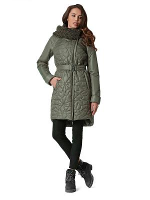 Пальто D`imma. Цвет: оливковый
