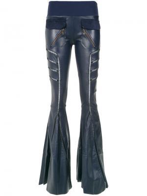 Широкие брюки Andrea Bogosian. Цвет: синий