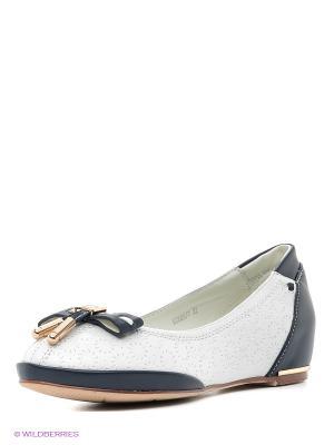 Туфли Mursu. Цвет: белый, темно-синий