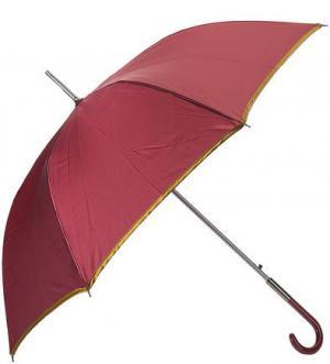 Бордовый зонт-трость с золотистой каймой Zest. Цвет: бордовый
