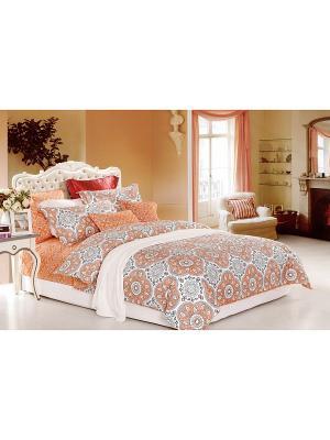 Комплект постельного белья, 1,5 спальный Sofi de Marko. Цвет: оранжевый