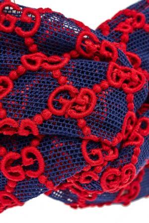 Повязка из сетки с монограммами Gucci. Цвет: multicolor