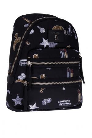 Текстильный рюкзак с принтом Marc Jacobs. Цвет: черный, разноцветный