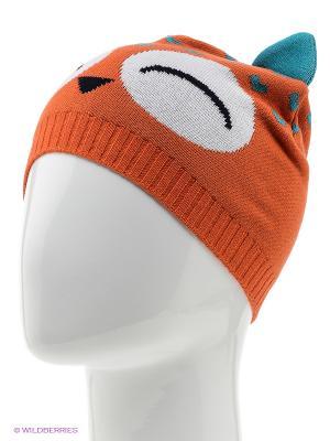 Шапка Marhatter. Цвет: оранжевый, бирюзовый