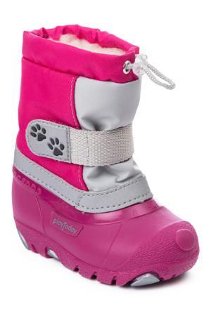 Сапоги PlayToday. Цвет: розовый, темно-розовый, серый